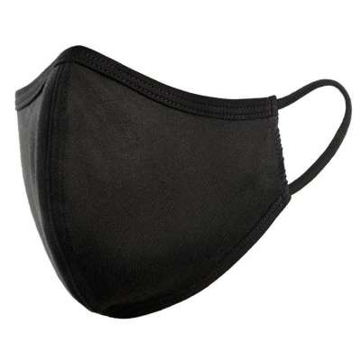 Black Fabric Reusable Double Layer Face Mask, MASK MK-CFM2