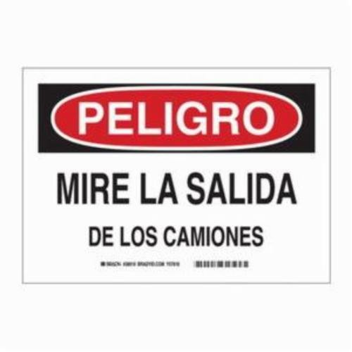 Brady® 38919 Rectangle Danger Sign, 10 in H x 14 in W, Red/Black on White, Surface Mount, B-401 Plastic