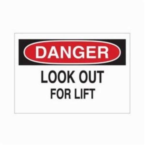 Brady® 39909 Rectangle Danger Sign, 7 in H x 10 in W, Black/Red on White, Self-Adhesive/Surface Mount, B-302 Polyester