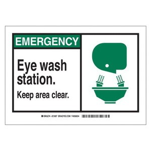 Brady® 46483 First Aid Sign, 7 in H x 10 in W, Green/Black on White, Surface Mount, B-555 Aluminum