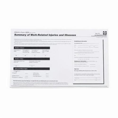 Brady® OR300A Right-To-Know Form, Black on White
