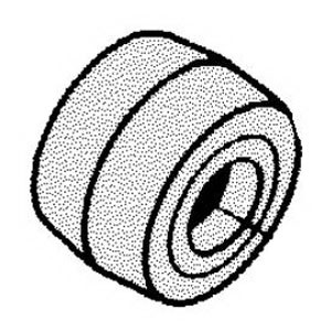 Dynabrade® 14234 Contact Wheel Assembly, Crowned Surface, 70 Duro Urethane Face, For Use With Dynafile® Contact Wheel