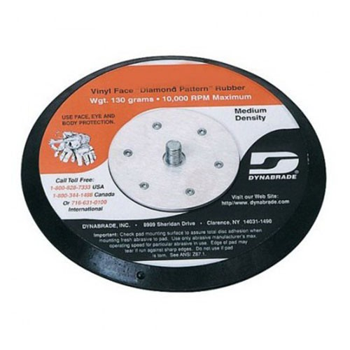 Dynabrade® 50605 Non-Vacuum Disc Backing Pad, 5 in Dia, 5/16-24 Male, Hook Attachment, Rubber