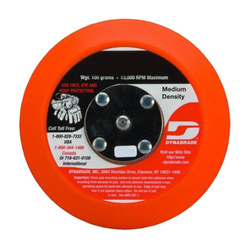Dynabrade® 56090 Non-Vacuum Backing Pad, 3 in Dia, 5/16-24 Male, Hook Attachment