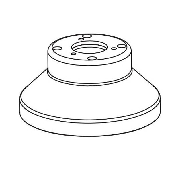 Dynabrade® 61349 Guard Assembly, 11 in Orbital, NV, Crown, For Use With 51582 and 51583 Electric Random Orbital Sander