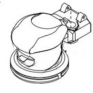 Dynabrade® 69318 Replacement Housing, For Use With Dynorbital® 69030 Non-Vacuum Silver Supreme Sander