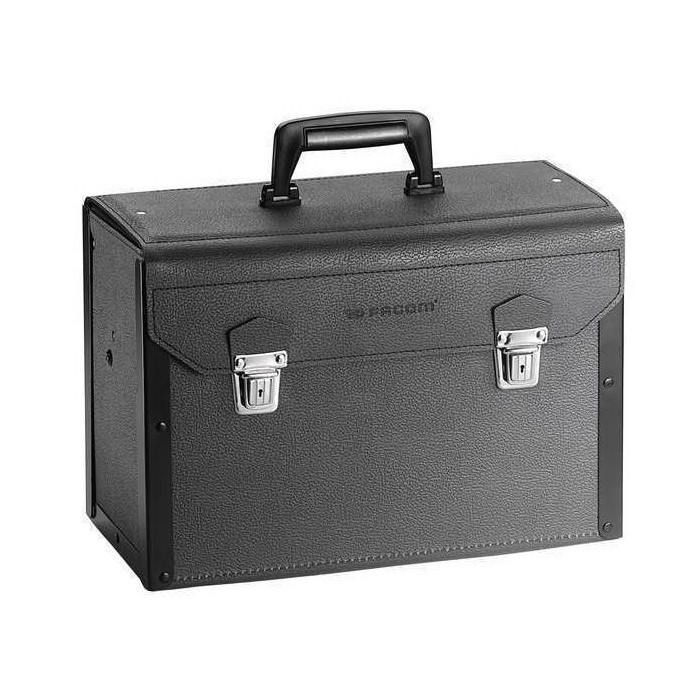 Facom® FT-BV.5A General Purpose Tool Bag, 8-1/2 in H x 16-3/4 in W x 12-1/2 in D, Leather