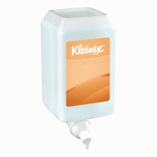 Kleenex® 91555 Antiseptic Foam Skin Cleanser, 1 L, Cassette Packing, Liquid, Characteristic/Unscented, Clear