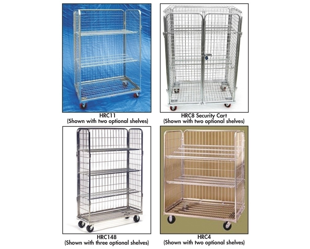 Rolling Wire Carts Security Cart Without Shelving Cap