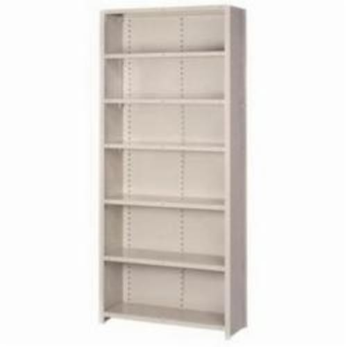 LYON® 8262 Add On Traditional Flanged Closed Shelving Section, 6 Shelves, 84 in H x 36 in W x 24 in D, 750 lb Shelf