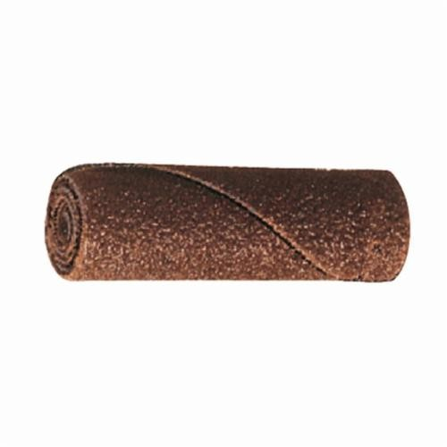 PFERD POLIROLL® 41469 Straight Untapered Coated Cartridge Roll, 1/4 in Dia, 1/8 in Arbor, 80 Grit