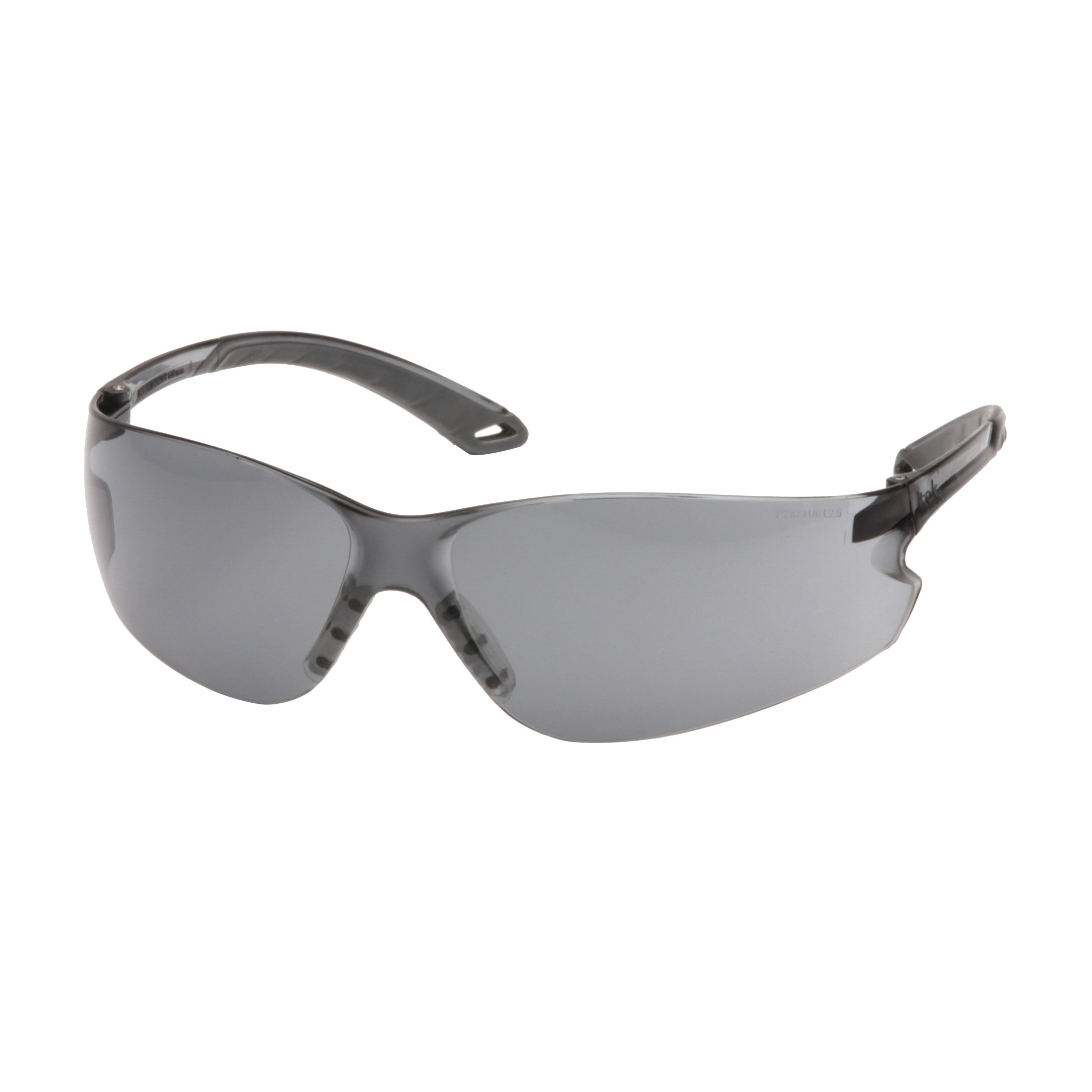 Pyramex® S5820S Light Weight Protective Glasses, Universal, Frameless, Scratch-Resistant Gray Lens