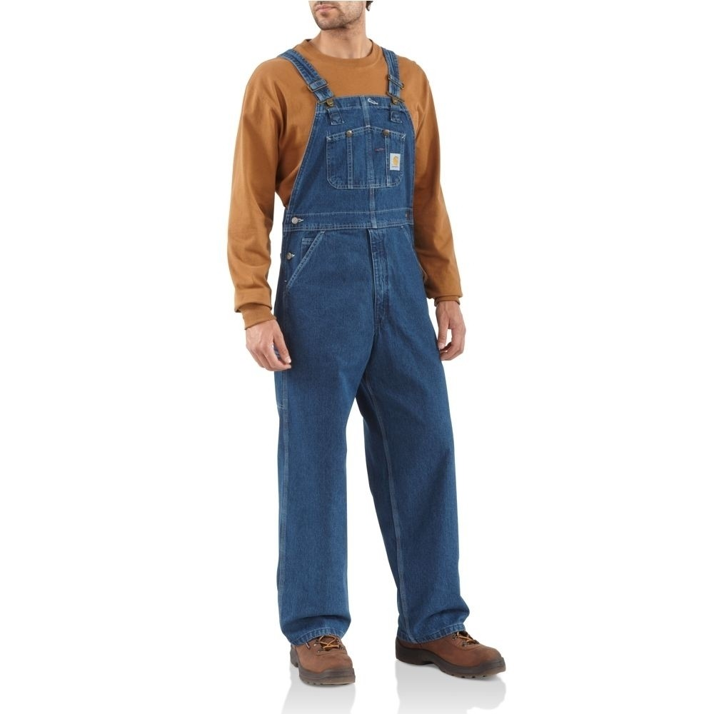 Men's Carhartt Washed Denim Bib Overalls