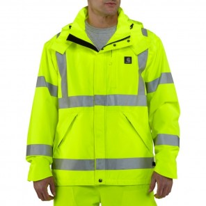 Men's Carhartt High-Visibility Class 3 Waterproof Jacket