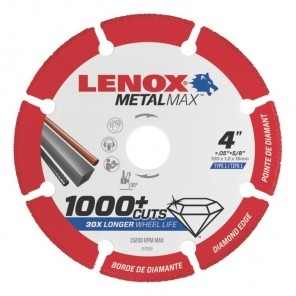 "Lenox METALMAX Cut-Off Wheel - 4"" Diameter, .050"" Thickness, 5/8"" Arbor, 1972920"