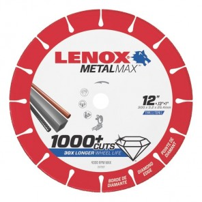 "Lenox METALMAX Cut-Off Wheel - 12"" Diameter, .130"" Thickness, 1"" Arbor, 1972927"