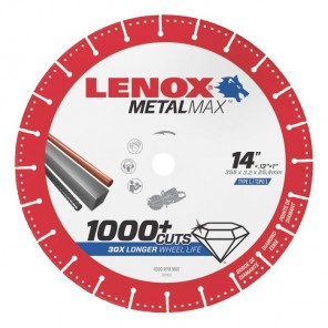 "Lenox METALMAX Cut-Off Wheel - 14"" Diameter, .150"" Thickness, 1"" Arbor, 1972932"