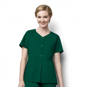 Women's WonderWink WonderWork Short-Sleeve Snap Jacket