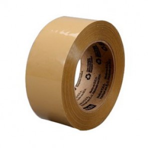 Scotch® 371 Premium Grade Box Sealing Tape, 72 mm W x 50 m Roll L, 1.9 mil THK, White