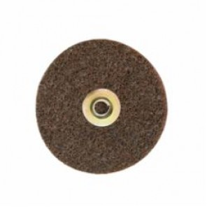Scotch-Brite™ SC-DN Quick-Change Type TN Surface Conditioning Disc, 5 in Dia, No Hole, Brown