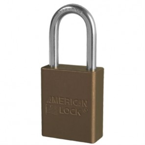 BROWN PADLOCK KEYED DIFFERENT