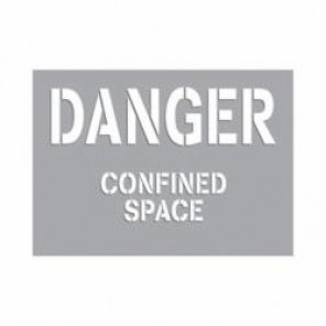 Accuform® CST710 Confined Space Stencil, Mylar