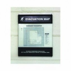 Accuform® DTA271 Evacuation Map Holder, 8-1/2 x 11 in Insert, 0.118 in Acrylic Face/Plastic Back, Clear