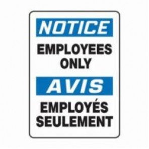 Accuform® FBMADC804VA Bilingual Notice Sign, 14 in H x 10 in W, 0.04 in Aluminum