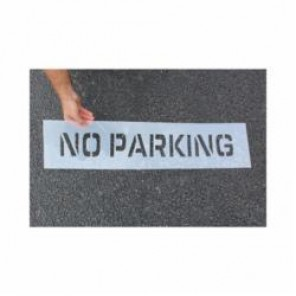 Accuform® FMS243 Parking Symbol Stencil, 4 in H, Polyethylene Plastic
