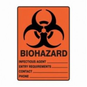 Accuform® MBHZ502XV Safety Sign, 14 in H x 10 in W, 6 mil Adhesive Dura-Vinyl