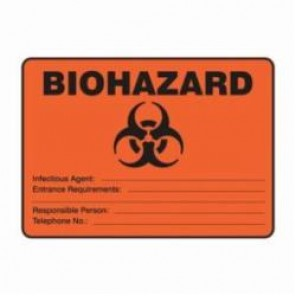 Accuform® MBHZ512XV Safety Sign, 7 in H x 10 in W, 6 mil Adhesive Dura-Vinyl