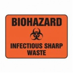 Accuform® MBHZ514XV Safety Sign, 7 in H x 10 in W, 6 mil Adhesive Dura-Vinyl