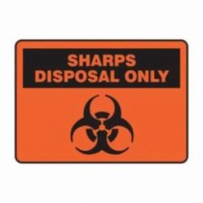 Accuform® MBHZ518XV Safety Sign, 7 in H x 10 in W, 6 mil Adhesive Dura-Vinyl