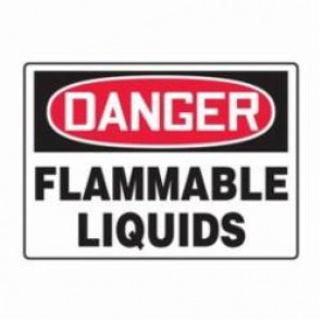 Accuform® MCHG101VS Danger Sign, 7 in H x 10 in W, 4 mil Adhesive Vinyl