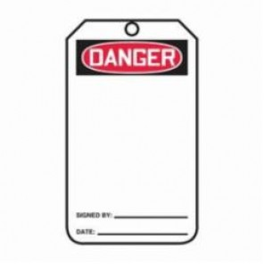 Accuform® MDT161CTP Safety Tag, 3/8 in Hole, Back A, PF-Cardstock