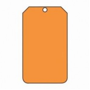Accuform® MDT522PTP Blank Tag, 3/8 in, Orange, RP-Plastic