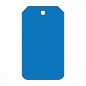 Accuform® MDT526CTP Blank Tag, 3/8 in, Blue, PF-Cardstock
