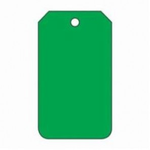 Accuform® MDT527CTP Blank Tag, 3/8 in, Green, PF-Cardstock