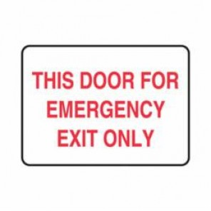 Accuform® MEXT553VP Safety Sign, 7 in H x 10 in W, 0.055 in Plastic