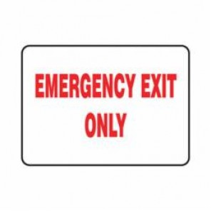 Accuform® MEXT576VS Safety Sign, 7 in H x 10 in W, 4 mil Adhesive Vinyl