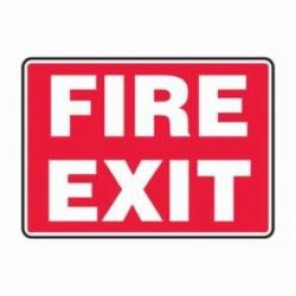 Accuform® MEXT591VA Safety Sign, 7 in H x 10 in W, 0.04 in Aluminum