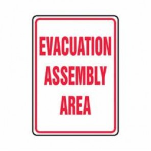 Accuform® MFEX504VP Evacuation Sign, 24 in H x 18 in W, 0.055 in Plastic