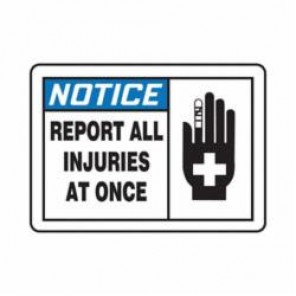 Accuform® MFSD814VS Notice Sign, 10 in H x 14 in W, 4 mil Adhesive Vinyl