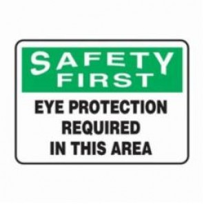 Accuform® MPPA900XV Safety Sign, 10 in H x 14 in W, 6 mil Adhesive Dura-Vinyl