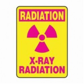 Accuform® MRAD514XV Radiation Safety Sign, 14 in H x 10 in W, 6 mil Adhesive Dura-Vinyl