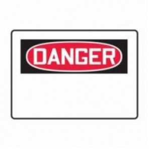 Accuform® MRBH201VS Danger Sign, 7 in H x 10 in W, 4 mil Vinyl