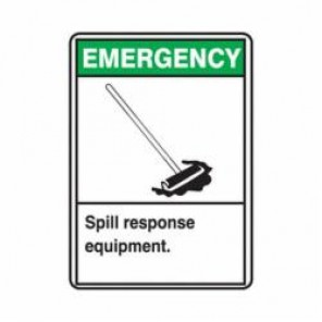 Accuform® MRHL900VA Safety Sign, 14 in H x 10 in W, 0.04 in Aluminum