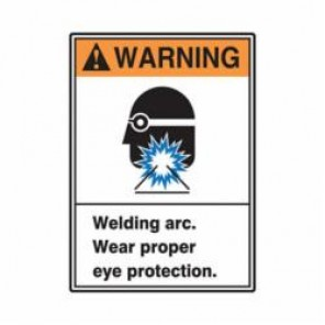 Accuform® MRLD300XV Warning Sign, 14 in H x 10 in W, 6 mil Adhesive Dura-Vinyl