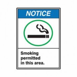 Accuform® MRMK802VA Notice Sign, 14 in H x 10 in W, 0.04 in Aluminum