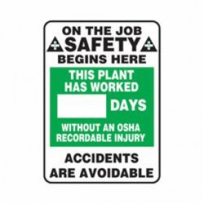 Accuform® MSR247PL Safety Sign, 28 in H x 20 in W, Wall Mount, 0.125 in Plastic